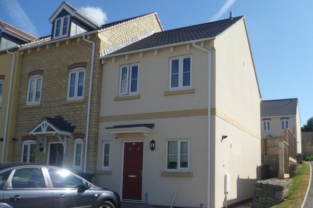 Thumbnail End terrace house to rent in West Close, Axminster