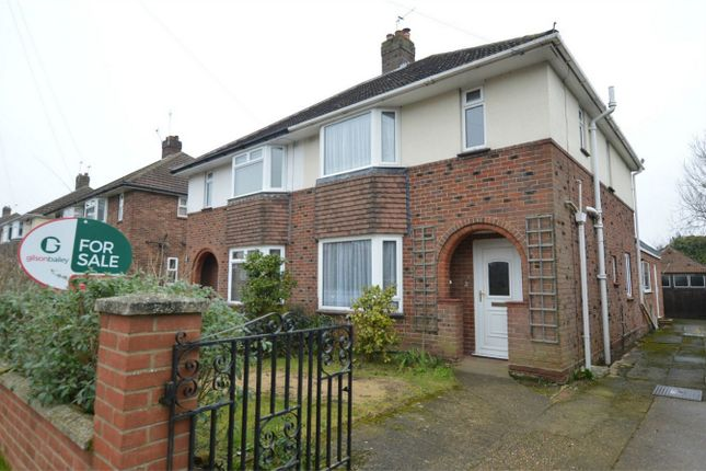Thumbnail Semi-detached house for sale in Breckland Road, New Costessey, Norwich
