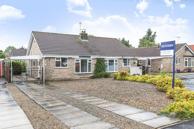 Thumbnail Semi-detached bungalow for sale in Garrowby View, Stamford Bridge, York