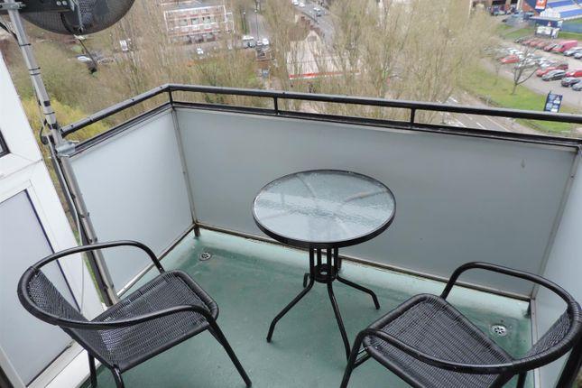 Balcony of Spon Gate House, Upper Spon Street, Coventry CV1