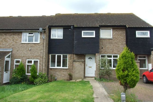 Thumbnail Terraced house to rent in Marlborough Close, St. Ives, Huntingdon