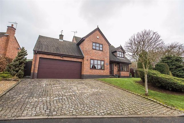Thumbnail Detached house for sale in Woodland Close, Leek