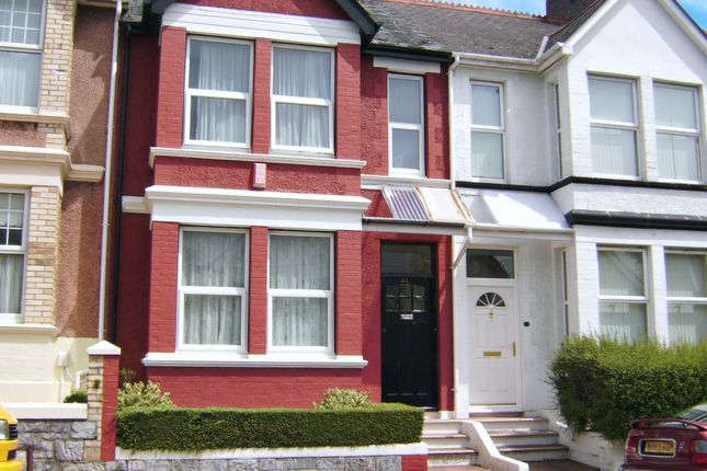 Thumbnail Terraced house to rent in Hillside Avenue, Mutley, Plymouth