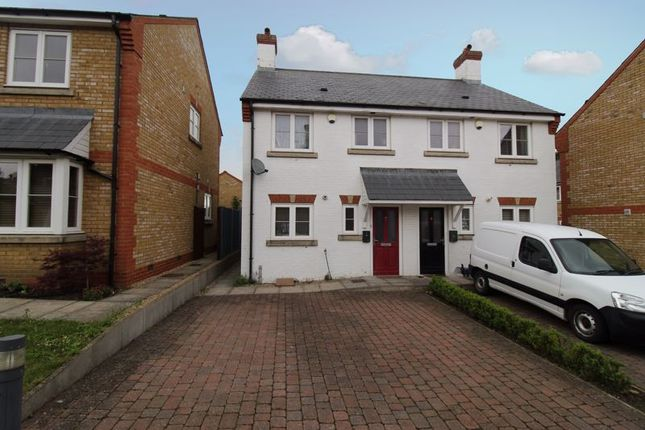 Thumbnail Semi-detached house for sale in Endeavour Close, Henlow