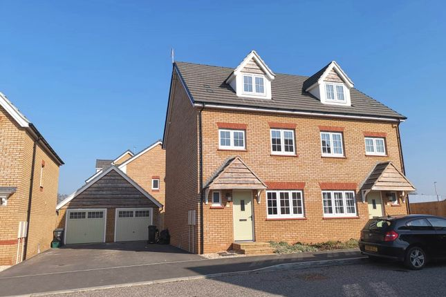 Thumbnail Semi-detached house for sale in Furs Close, Monkton Heathfield, Taunton
