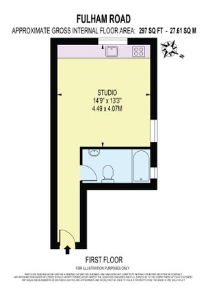 Studio to rent in Fulham Palace Road, London SW6