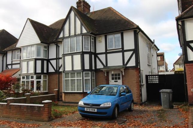 Thumbnail Semi-detached house to rent in Parkside, Finchley, London