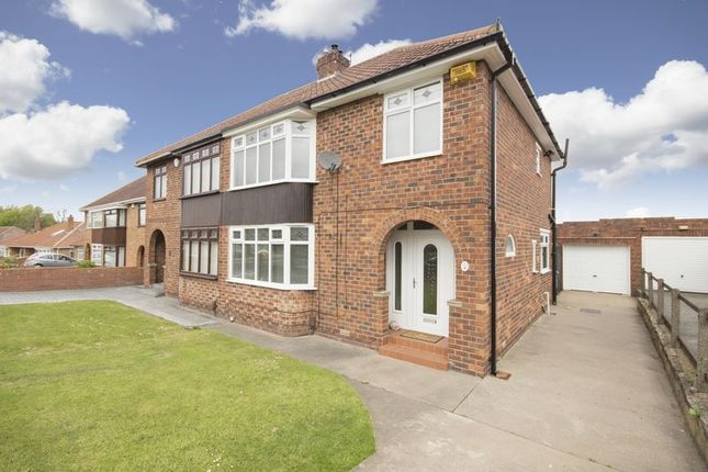 Thumbnail Semi-detached house for sale in Hollywalk Drive, Normanby, Middlesbrough