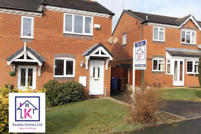 Thumbnail Semi-detached house to rent in Deavall Way, Cannock