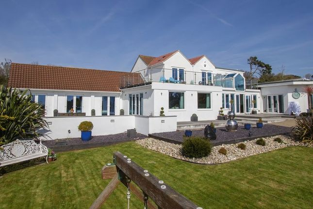 Thumbnail Detached house for sale in Beach Road, Swanbridge, Penarth