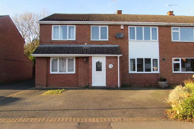 Thumbnail Semi-detached house for sale in Linden Farm Drive, Countesthorpe, Leicester