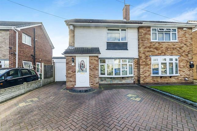 Thumbnail Semi-detached house for sale in Holberg Grove, Wednesfield, Wolverhampton