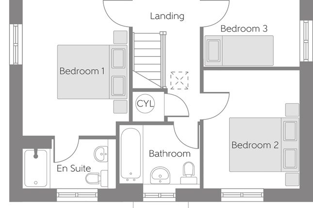 First Floor Plan of Bank Lane, Kirkby L33