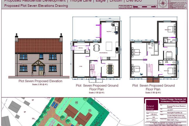 Thumbnail Detached house for sale in Thorpe Lane, Eagle, Lincoln