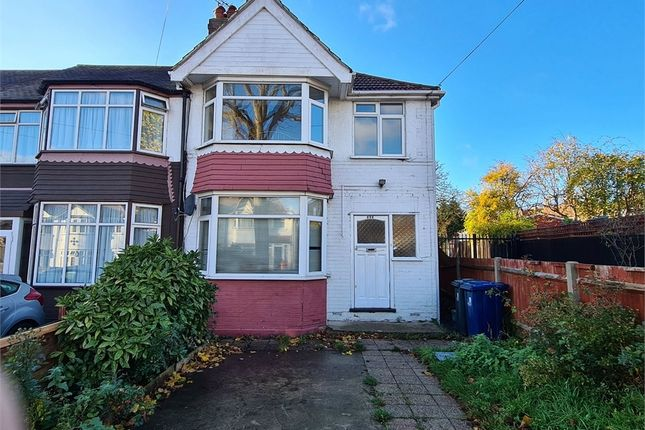 Thumbnail End terrace house to rent in Conway Crescent, Perivale, Greenford, Greater London