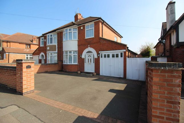 Thumbnail Semi-detached house for sale in Abbots Road South, Leicester