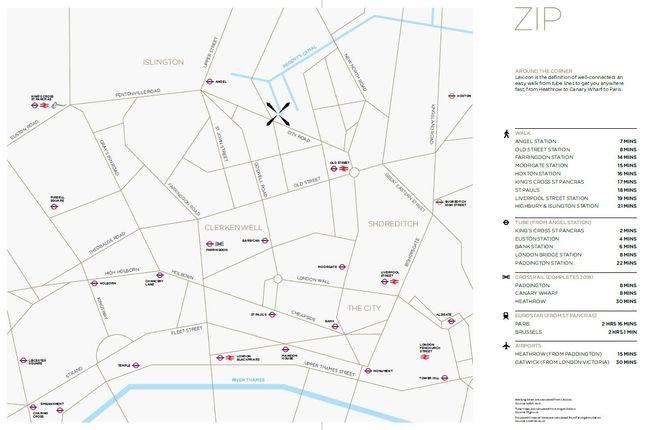 Transport of Lexicon Apartments, London EC1V
