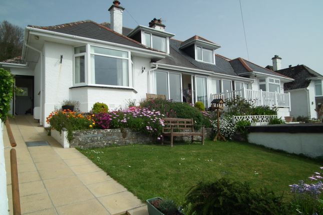 Thumbnail 3 bed semi-detached bungalow for sale in Portuan Road, Hannafore, West Looe, Cornwall