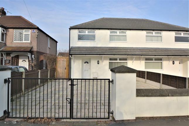 Thumbnail Semi-detached house to rent in Hillock Lane, Woolston, Warrington