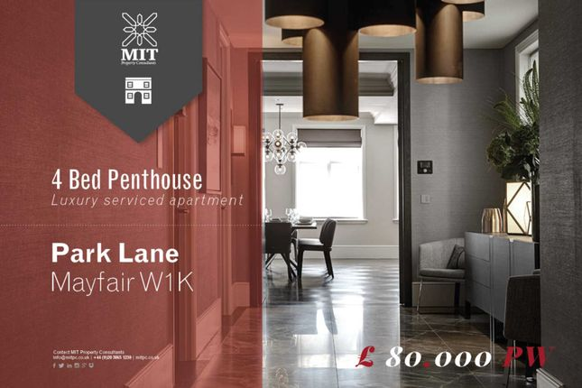 Thumbnail Penthouse to rent in Park Lane, London