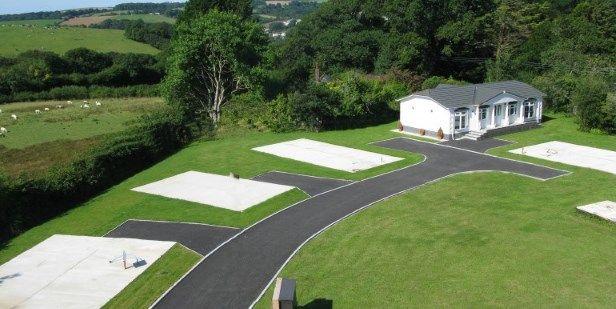Aerial View of Lostwithiel, Cornwall, . PL22