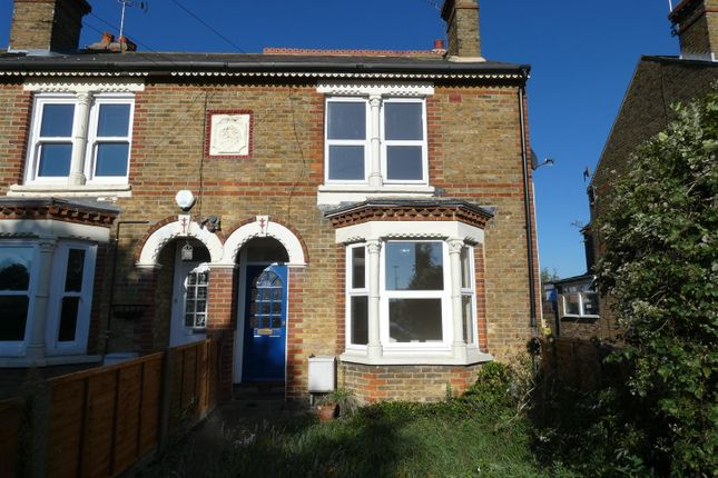 Thumbnail End terrace house to rent in Belmont Road, Whitstable