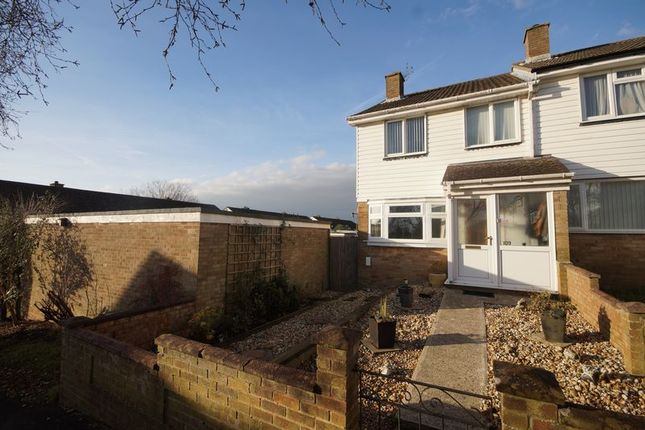Thumbnail End terrace house for sale in Dore Avenue, Portchester, Fareham