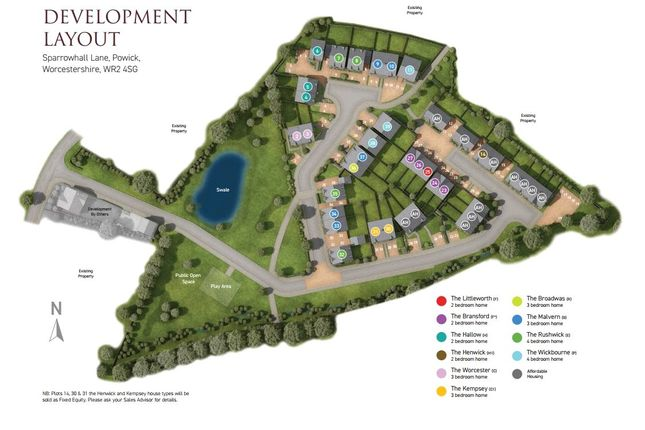 Site Plan of Sparrowhall Lane, Powick, Worcester WR2