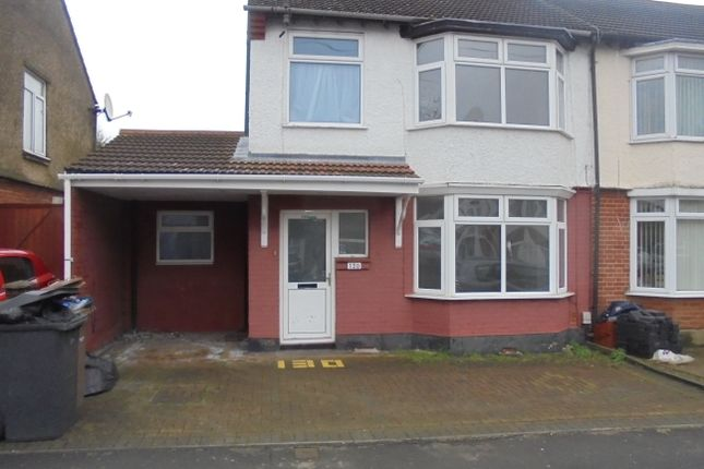 Thumbnail Semi Detached House To Rent In Argyl Ave Luton
