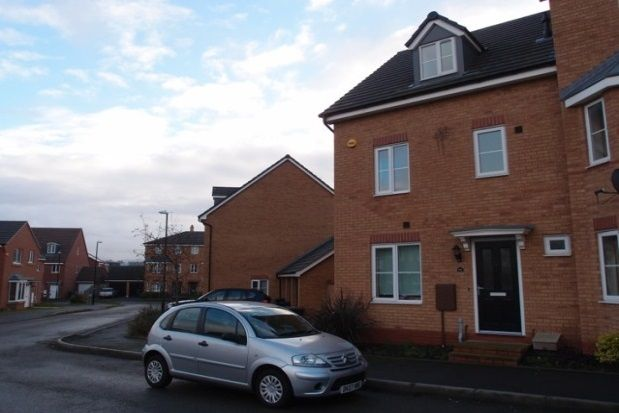 Thumbnail Town house to rent in Surrey Drive, New Stoke Village