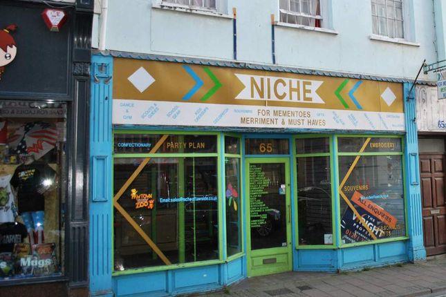 Thumbnail Retail premises for sale in Boutport Street, Barnstaple, Devon