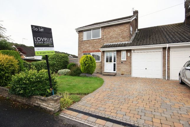 Thumbnail Semi-detached house to rent in Mill Rise, Swanland, Hull