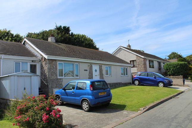 Thumbnail Detached bungalow for sale in Garreglwyd Park, Holyhead