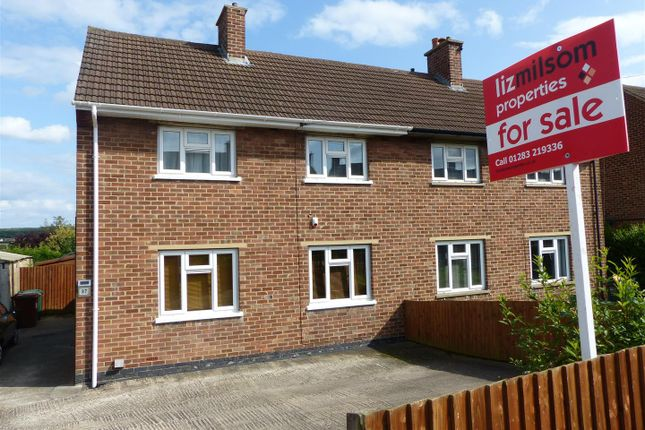 Thumbnail Semi-detached house for sale in Salisbury Drive, Midway, Swadlincote