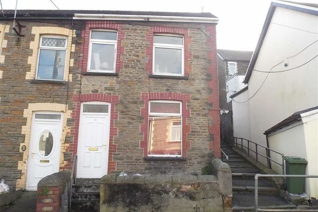 Thumbnail End terrace house to rent in Danygraig Street, Graig, Pontypridd