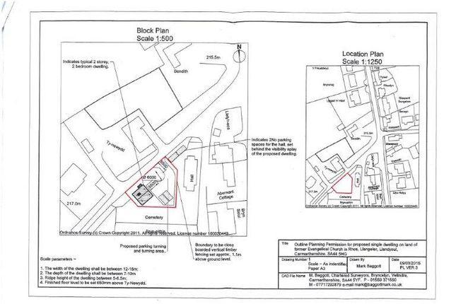 Site Plan of Rhos, Llandysul SA44