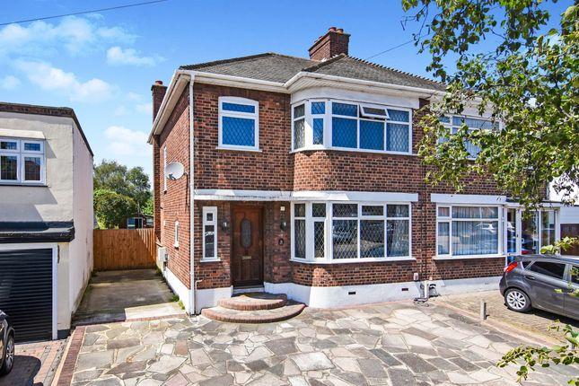 Thumbnail Semi-detached house for sale in Lodge Avenue, Gidea Park, Romford