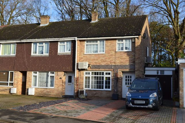 Thumbnail End terrace house for sale in Lynwood Drive, Mytchett