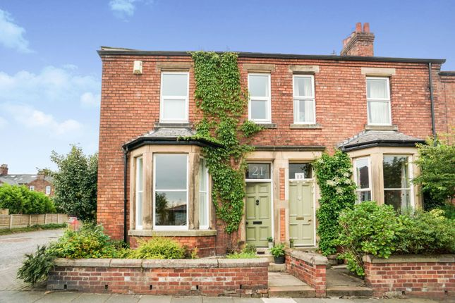 Thumbnail End terrace house for sale in Rosebery Road, Stanwix, Carlisle