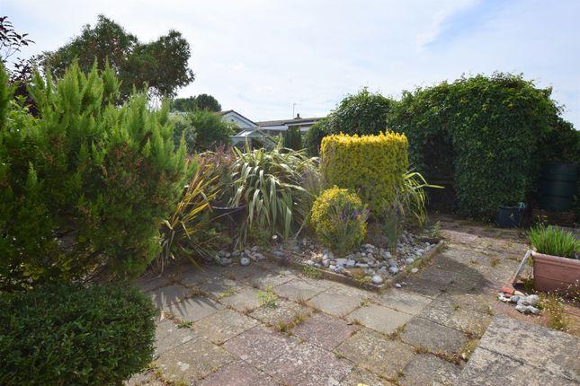 Rear Garden  of Grenville Road, Pevensey Bay BN24