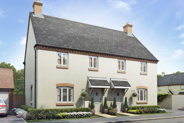 """Thumbnail Semi-detached house for sale in """"The Farndon"""" at Towcester Road, Old Stratford, Milton Keynes"""