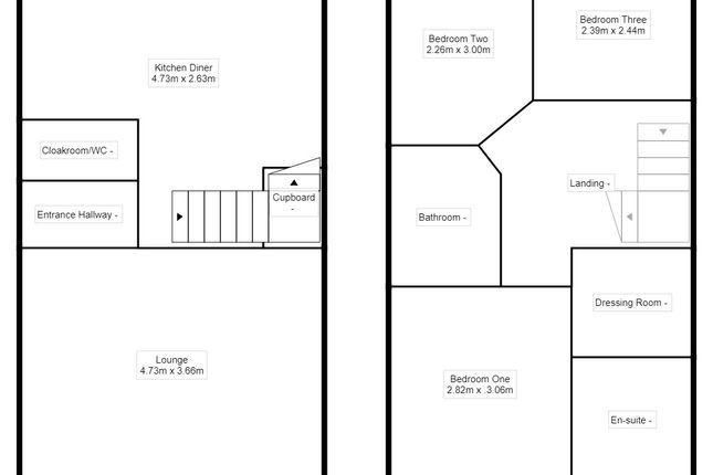 Floorplan of Hackett Close, Hurst Hill, Bilston, West Midlands WV14