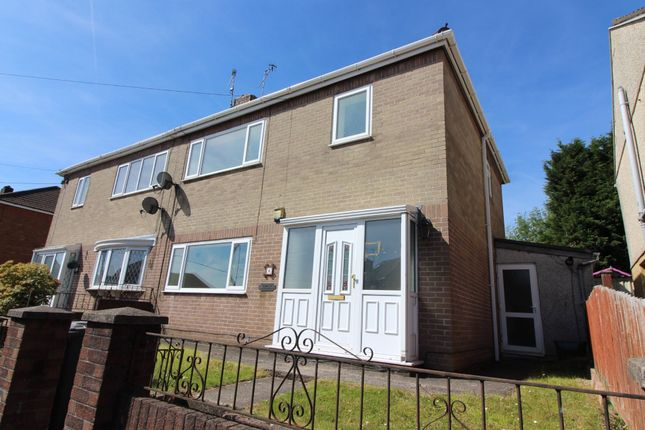 Thumbnail Semi-detached house for sale in Attlee Road, Blackwood