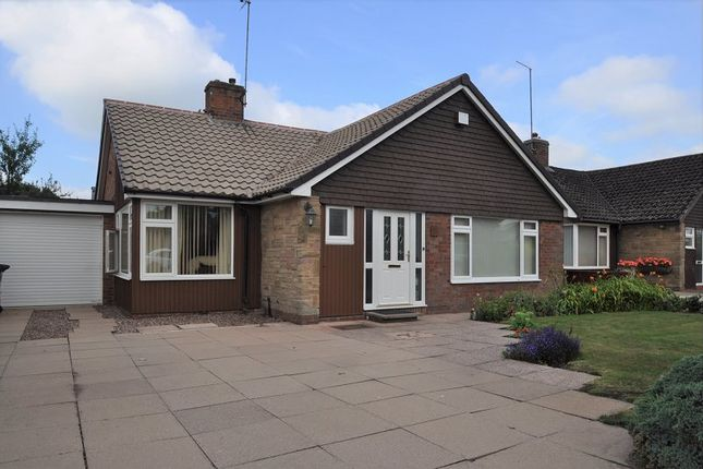Thumbnail Detached bungalow for sale in Hillview Crescent, Baldwins Gate, Newcastle