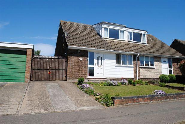 Thumbnail Semi-detached bungalow for sale in Obelisk Rise, Kingsthorpe, Northampton