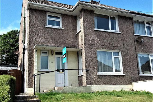 Thumbnail Semi-detached house to rent in Ffordd Yr Eglwys, North Cornelly, Bridgend