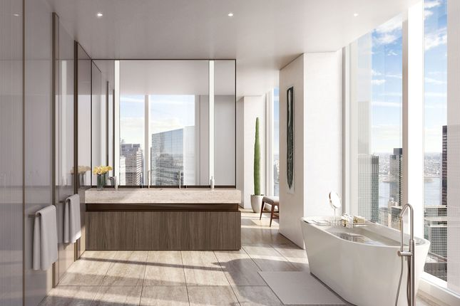 A Tower Residence Master Bathroom With Apaiser Bath Tub, Steam Shower And Heated Flooring