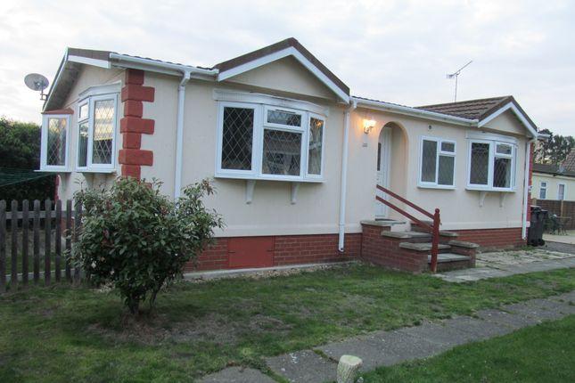 Thumbnail Mobile/park home for sale in Holy Acre, Roydon Marina Village, Roydon, Essex