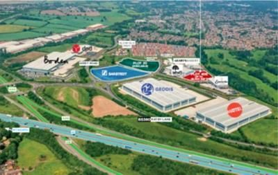 Thumbnail Light industrial to let in Plot 40B, Optimus Point, Optimus Way, Leicester, Leicestershire