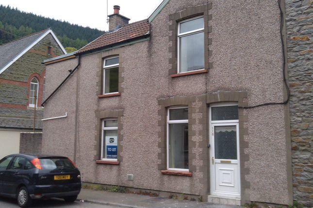 Thumbnail End terrace house to rent in Trehafod Road, Trehafod